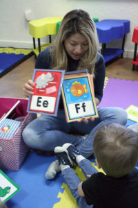 The twos are learning their alphabet!